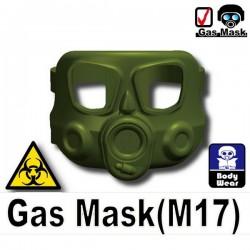 Lego Accessoires Minifig Si-Dan Toys Masque à gaz M17 (Vert Militaire) (La Petite Brique)