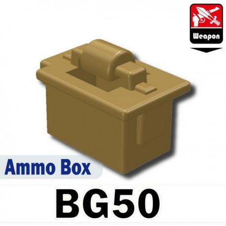 Lego Accessoires Minifig Si-Dan Toys Boite de Munitions (BG50) (Beige foncé) (La Petite Brique)