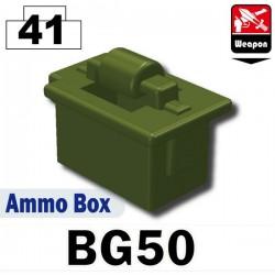 Lego Accessoires Minifig Si-Dan Toys Boite de Munitions (BG50) (Vert Militaire) (La Petite Brique)
