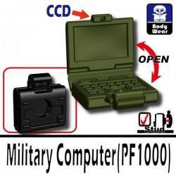 Lego Accessoires Minifig Si-Dan Toys Ordinateur (Vert Militaire) (La Petite Brique)