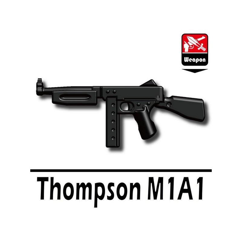 Lego Custom Minifig Accessories Si-Dan Toys Weapon Thompson M1A1 (Black)  (La Petite Brique)