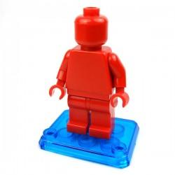Lego Custom Minifig Si-Dan Toys Socle minifig (bleu transparent) (La Petite Brique)