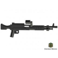 Lego Minifig Custom COMBAT BRICK M240 Machine Gun (noir) (La Petite Brique)