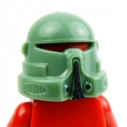 Lego Custom Minifig AREALIGHT Sand Green Airborne Helmet (peinture noire à la main) (La Petite Brique)