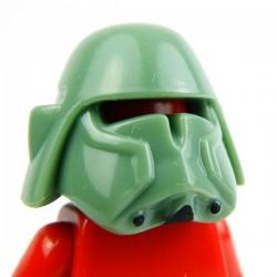 Lego Custom Minifig AREALIGHT Sand Green Bacara Helmet (peinture noire à la main) (La Petite Brique)