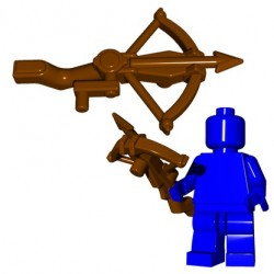 Lego Accessoires Minifig Custom BRICK WARRIORS Arbalète (Marron) (La Petite Brique)