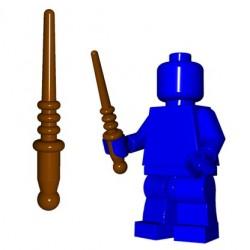 Lego Accessoires Minifig Custom BRICK WARRIORS Baguette magique (Marron) (La Petite Brique)