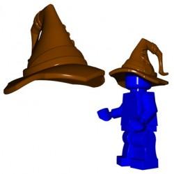 Lego Accessoires Minifig Custom BRICK WARRIORS Chapeau de Magicien (Marron) (La Petite Brique)