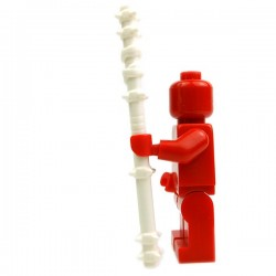 Lego Accessoires Minifig Custom BRICK WARRIORS Quarterstaff (Blanc) (La Petite Brique)