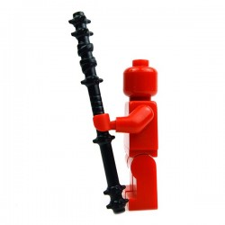 Lego Accessoires Minifig Custom BRICK WARRIORS Quarterstaff (Noir) (La Petite Brique)