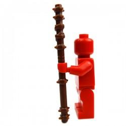 Lego Accessoires Minifig Custom BRICK WARRIORS Quarterstaff (Marron) (La Petite Brique)