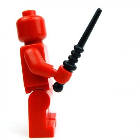 Lego Accessoires Minifig Custom BRICK WARRIORS Baguette magique (Noir) (La Petite Brique)