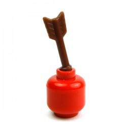 Lego Accessoires Minifig Custom BRICK WARRIORS Arrow Half (marron) (La Petite Brique)