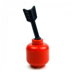 Lego Accessoires Minifig Custom BRICK WARRIORS Arrow Half (noir) (La Petite Brique)