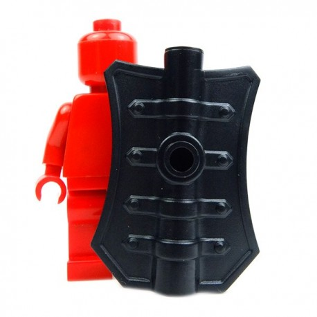 Lego Accessoires Minifig Custom BRICK WARRIORS Bouclier Pavise (noir) (La Petite Brique)
