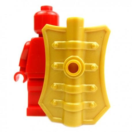 Lego Accessoires Minifig Custom BRICK WARRIORS Bouclier Pavise (Pearl Gold) (La Petite Brique)