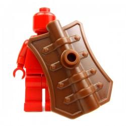 Lego Accessoires Minifig Custom BRICK WARRIORS Bouclier Pavise (Marron) (La Petite Brique)