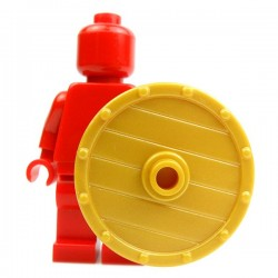 Lego Accessoires Minifig Custom BRICK WARRIORS Bouclier Viking (Pearl Gold) (La Petite Brique)