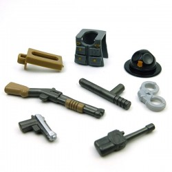 "Lego Accessoires Minifig Custom BRICKFORGE Pack Sheriff ""Sergent"" (La Petite Brique)"