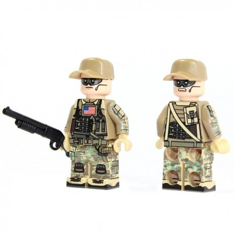 Lego Custom Minifig X39 American Engineer (La Petite Brique)