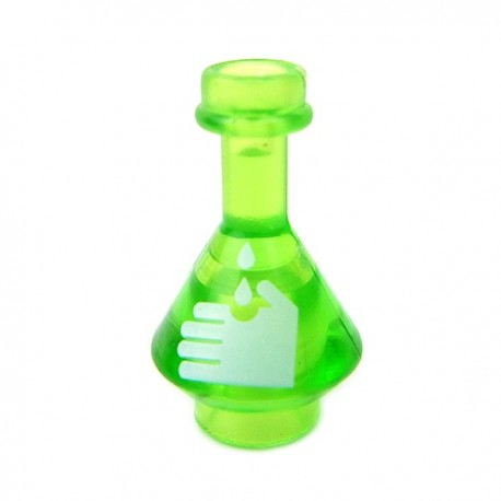 Lego Accessoires Minifig Custom BRICKFORGE Fiole Acide (vert clair transparent) (La Petite Brique)