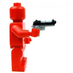 Lego Accessoires Minifig Custom BRICKFORGE Tactical Sidearm (Silver, black slide print) (La Petite Brique)