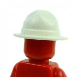 Lego Accessoires Minifig Custom BRICKFORGE Chapeau Ranger (Blanc) (La Petite Brique)