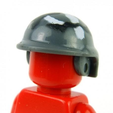 Lego Accessoires Minifig Custom BRICKFORGE Casque tactical (Dark Bluish Gray) Camouflage (La Petite Brique)