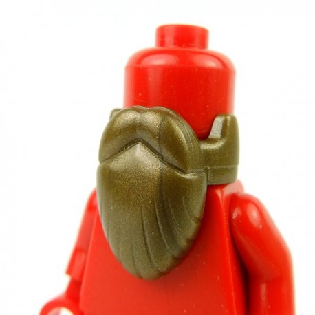 Lego Accessoires Minifig Custom BRICKFORGE Barbe (Bronze) (La Petite Brique)