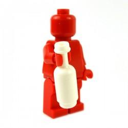 Lego Accessoires Minifig Custom BRICKFORGE Bouteille ronde (Blanc) (La Petite Brique)