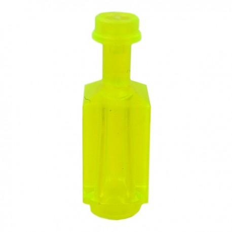 Lego Accessoires Minifig Custom BRICKFORGE Bouteille carrée (Trans Neon Green) (La Petite Brique)