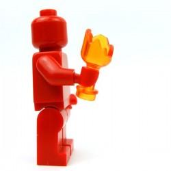 Lego Accessoires Minifig Custom BRICKFORGE Bouteille cassée (Orange transparent) (La Petite Brique)
