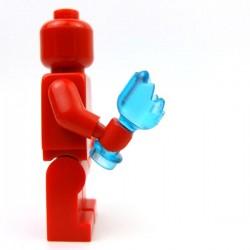 Lego Accessoires Minifig Custom BRICKFORGE Bouteille cassée (Bleu ciel transparent) (La Petite Brique)