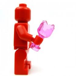 Lego Accessoires Minifig Custom BRICKFORGE Bouteille cassée (Rose transparent) (La Petite Brique)