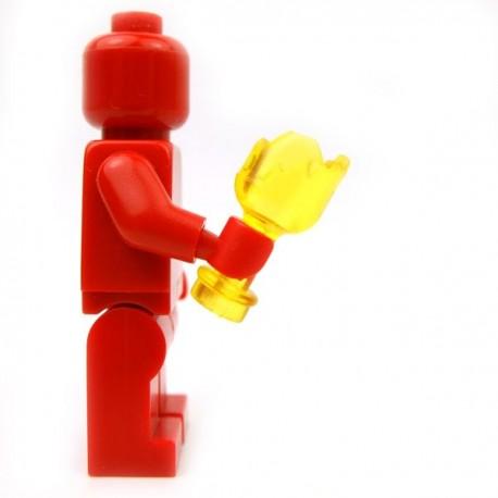Lego Accessoires Minifig Custom BRICKFORGE Bouteille cassée (Jaune transparent) (La Petite Brique)