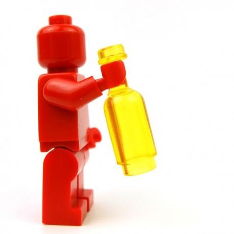 Lego Accessoires Minifig Custom BRICKFORGE Bouteille ronde (Jaune Transparent) (La Petite Brique)