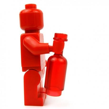 Lego Accessoires Minifig Custom BRICKFORGE Bouteille ronde (Rouge Transparent) (La Petite Brique)