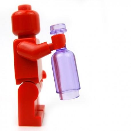 Lego Accessoires Minifig Custom BRICKFORGE Bouteille ronde (Violet Transparent) (La Petite Brique)
