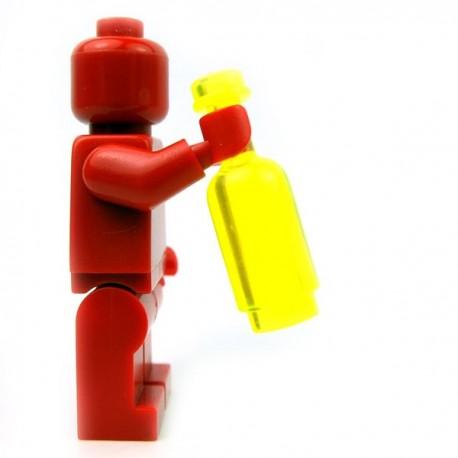 Lego Accessoires Minifig Custom BRICKFORGE Bouteille ronde (Trans Neon Green) (La Petite Brique)