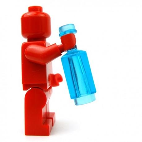 Lego Accessoires Minifig Custom BRICKFORGE Bouteille carrée (Bleu ciel Transparent) (La Petite Brique)