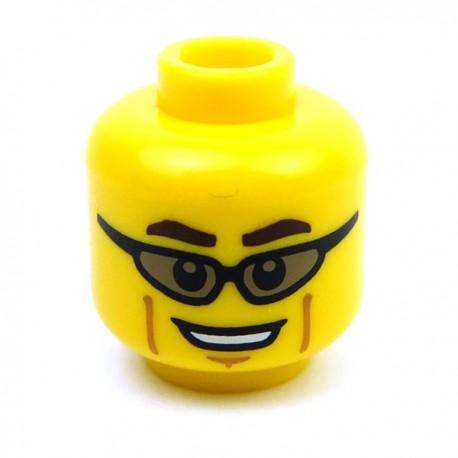 Lego Accessoires Minifig Tête masculine jaune, 51 (La Petite Brique)