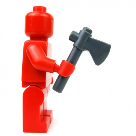 Lego Accessoires Minifig Custom BRICKFORGE Hâche (Dark Bluish Gray) (La Petite Brique)