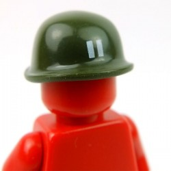 Lego Accessoires Minifig Custom BRICKFORGE Casque Soldat (vert militaire - Cappy) (La Petite Brique)