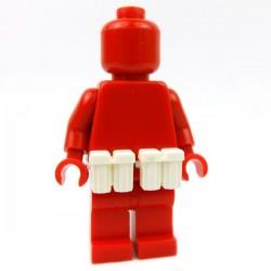 Lego Accessoires Minifig Custom BRICKFORGE Ammo Pouch (Blanc) (la paire) (La Petite Brique)