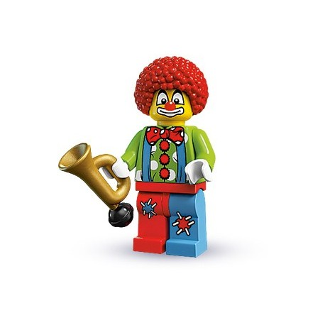 NEW LEGO CLOWN with SQUIRTING FLOWER MINIFIG figure circus minifigure halloween