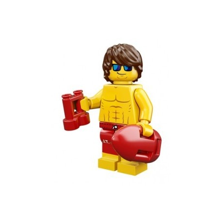 Lego Minifigures Serie 12 - le sauveteur 71007 Minifig (La Petite Brique)