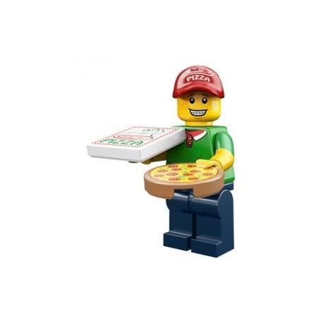Lego Minifigures Serie 12 - le livreur de pizza 71007 Minifig (La Petite Brique)