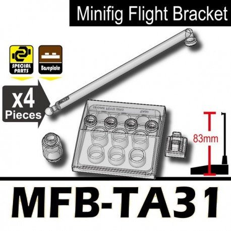 Minifig Flight Bracket MFB-TA31 (Trans-Clear)