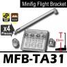Lego Accessoires Minifig Si-Dan Toys Socle Minifig Flight Bracket MFB-TA31 (transparent) (La Petite Brique)