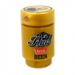 Drink Can, Stud Beer (Gold)